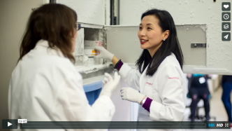 Screenshot of Alice Chen in lab