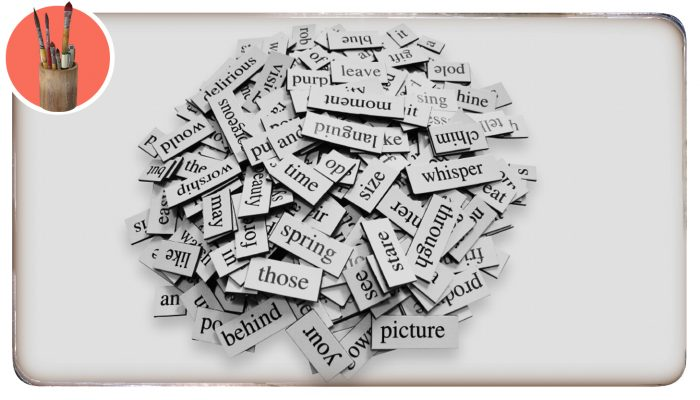 A pile of word magnets