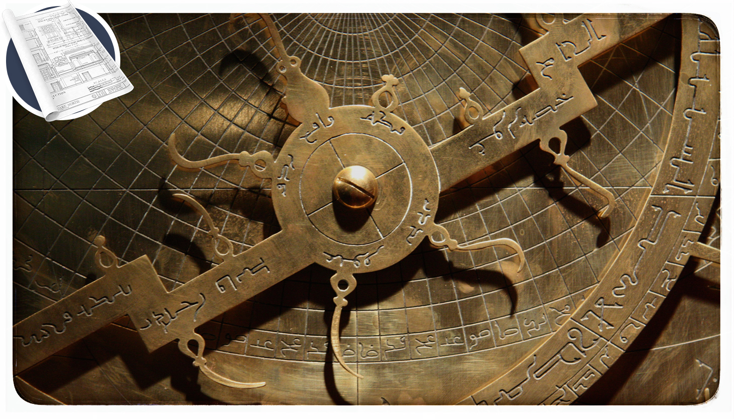 close up of an astrolabe